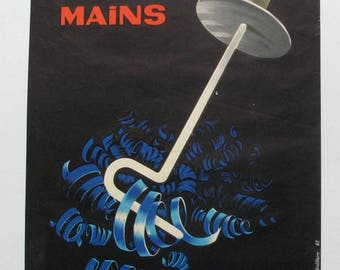 1960's French safety poster