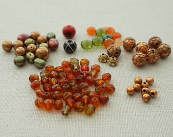 DESTASH Mix Lot Faux Pearls & Glass Beads  - Destash Beads, Jewelry Making Supplies, Wire Wrapping Supplies, Destash Sale