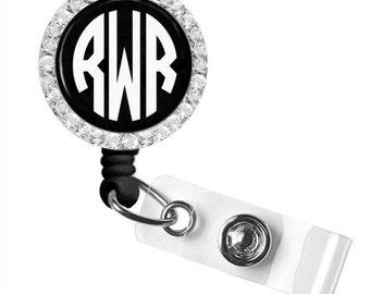Monogram Badge Reel, Monogram ID Badge, Monogram Retractable Badge Reel, Personalized Badge Reel (319)