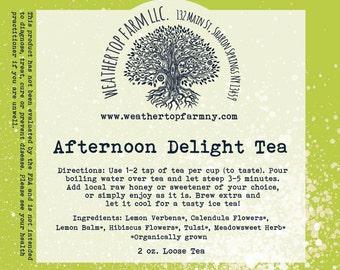 Afternoon Delight organic herbal tea
