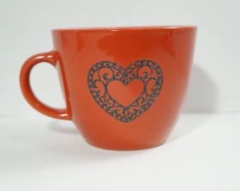 Red Valentine's Day 12oz Glitter Heart mug