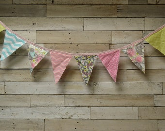Custom Fabric Pennant Banner, Fabric Pennant Garland, Fabric Flag Banner, Fabric Flag Garland, Nursery Decor, Party Decor, Photography Prop