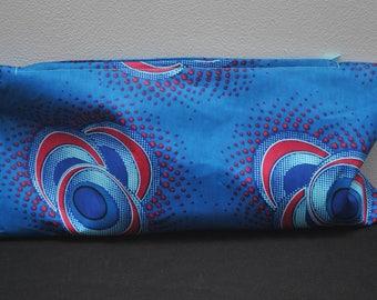 Blue Circles African Print Case/Bag