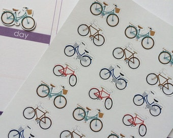 24 Bicycles, Fits Erin Condren Planner, Plum Paper Planner & Other Planners, Stickers