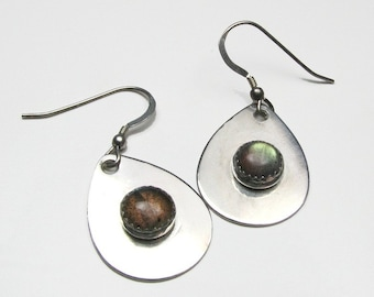 Labradorite sterling silver earrings  Custom designer jewelry Australian Designer MSIA