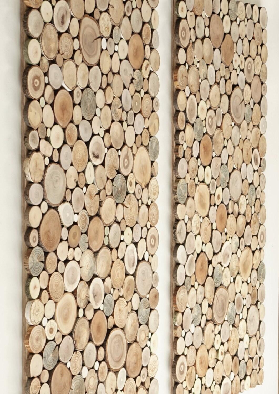 Wooden Wall Art Uk A Set Of 2 Tree Rounds Decor Tree