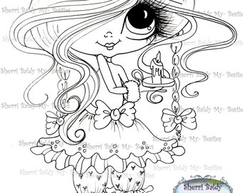 INSTANT DOWNLOAD Digital Digi Stamps Big Eye Big Head Dolls Digi  Img928 By Sherri Baldy