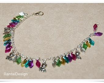 Charm bracelet Rainbow Kitten ladies teenager gift for cat lovers