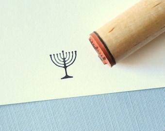 Menorah Rubber Stamp