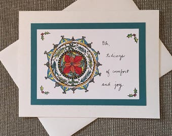 Tidings of Comfort and Joy Holiday Greeting Card Set