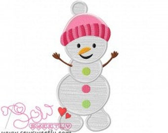 Personalized SnowMan Girl Applique Shirt or Onesie Boy or Girl