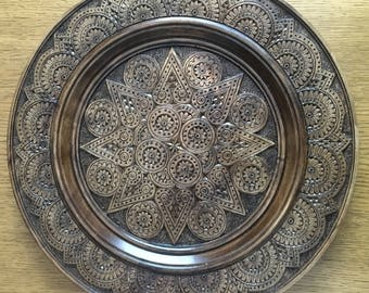 Ukrainian Wooden Hand Carved Wall Plate 40 cm