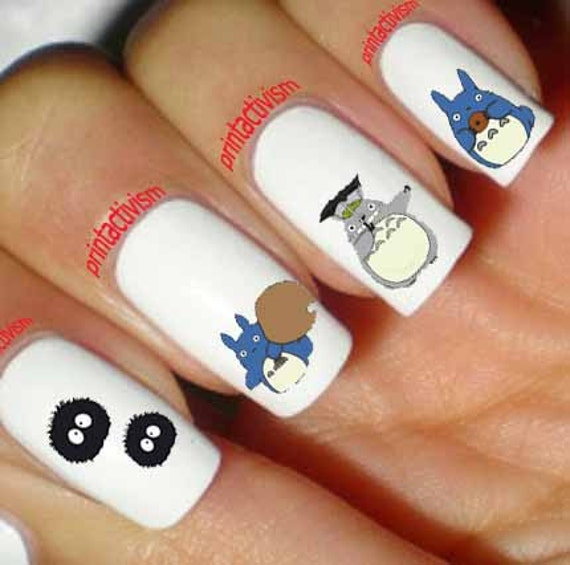 60 Totoro Anime Japan Set2 Waterslide OR Peel & Apply Nail Art Decal Image  from PrintActivism on Etsy Studio - 60 Totoro Anime Japan Set2 Waterslide OR Peel & Apply Nail Art