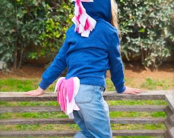Unicorn Hoodie Costume, Blue Unicorn Hoodie, Easter Unicorn Hoodie, Toddler Unicorn Costume, Girl Dress Up Clothes, Girl UNICORN birthday