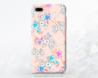 iPhone 8 Case iPhone X Case iPhone 7 Case Pink Floral iPhone 7 Plus Case iPhone SE Case Tough Samsung S8 Plus Case Galaxy S8 Case T66