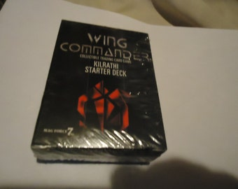 Vintage 1995 Wing Commando Kilrathi Starter Deck Card Game Sealed In Package, collectable