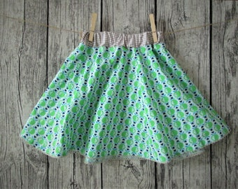 Sweet girl skirt, green/beige, Gr. 110/116