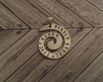 Doctor Who Time Vortex Wibbly Wobbly Timey Wimey Pendant