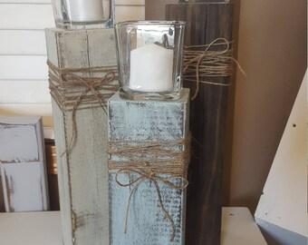 Custom Candlesticks, wood candle holders, farmhouse candlesticks, vintage candle holders, vintage candlesticks, rustic candlesticks