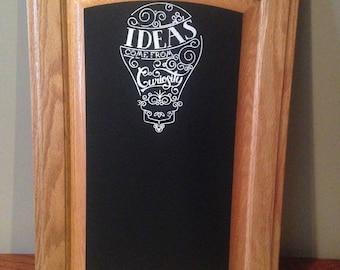 Reclaimed Cabinet Door turned chalkboard
