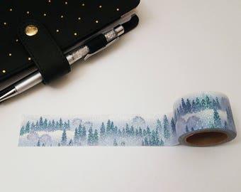 Glitter Washi Tape Winter Forest