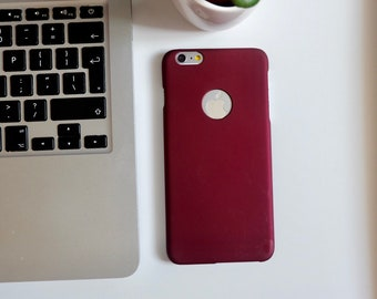 Maroon hard shell snap on iPhone 6plus 6splus phone case phone cover