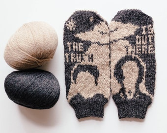 Pattern: The Truth Is Out There Knit Mittens