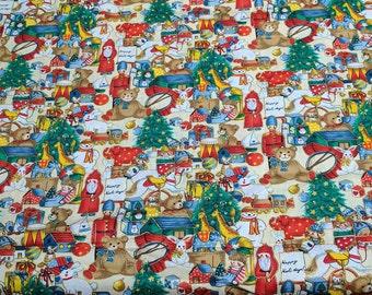 Christmas Bears Cotton Fabric