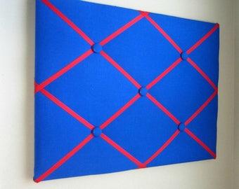 "16""x20"" Royal & Red Memory Board, Bow Board, Bow Holder, Vision Board, Photo Display, Ribbon Board, Business Card Display, Dream Board"