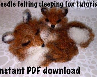 Needle felting tutorial, needle felting guide, needle felting fox guide, needle felting fox tutorial, needle felting DIY , fox felting guide