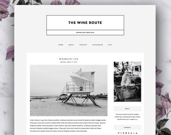 SALE Responsive Premade Blogger Template - The Wine Route