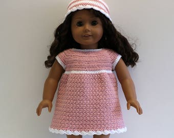 "Instant Download - 18"" Doll Pattern 3 - Pretty Dress and Hat"