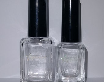Crystal Top Coat Clear Quick Drying Custom Indie Nail Lacquer Starlight Polish