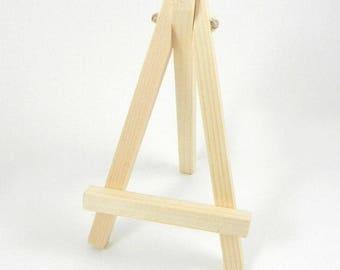 Mini chevalet en bois Trépied en bois décoration de table porte nom marque place
