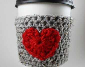 PDF Pattern: Heart Cup Cozy Crochet Pattern - Permission to Sell SALE