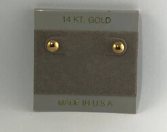 Keeping it Simple with 6MM 14 Karat Yellow Gold Button Studs wear any time any place with 14k earbacks