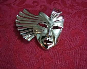 Vintage mime brooch