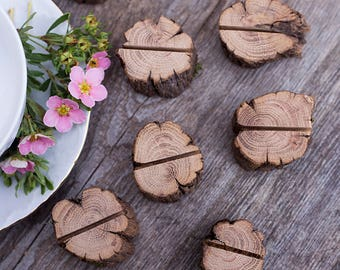Set of 20 Wedding place card holder, rustic wooden name card holder, rustic wedding  table centerpiece