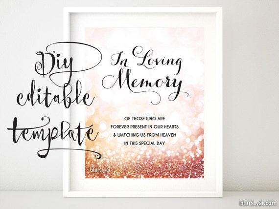free printable memorial card template