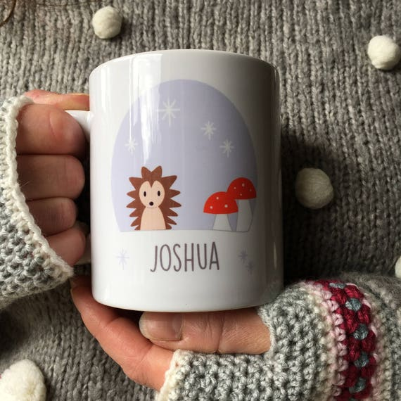 Hedgehog mug - cute hedgehog - woodland mug - personalised mug - gift for her