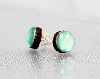 Mint Aqua Little Stud earrings