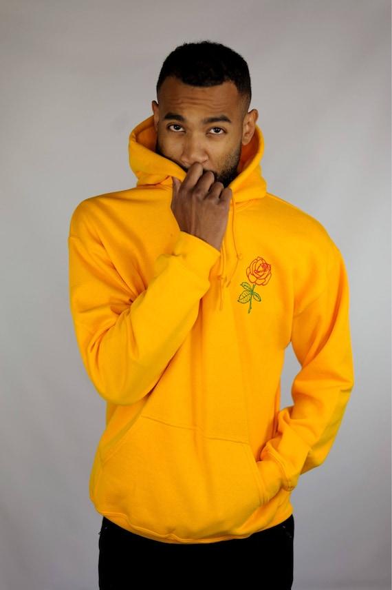 Men's Hoodie • Men's Rose Hoodie • Men's Clothing • Yellow Hoodie • Tumblr Sweatshirt • g185 25IMt