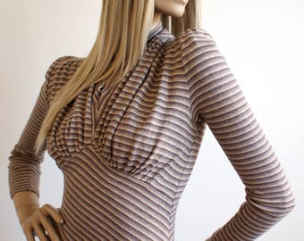 Rare early Antony Price for Plaza 1970s vintage Forties-style sweater girl top