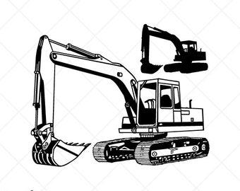 excavator clipart etsy rh etsy com  cut ready clipart download