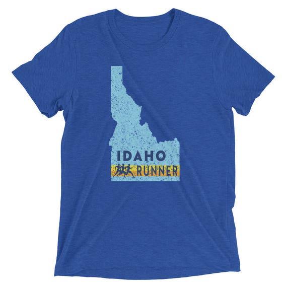Men's Idaho Runner Triblend T-Shirt - Run Idaho - Men's Short Sleeve Running Shirt