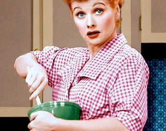 Lucille Ball (as Lucy Ricardo) in a publicity photo from the CBS Television sitcom  I Love Lucy