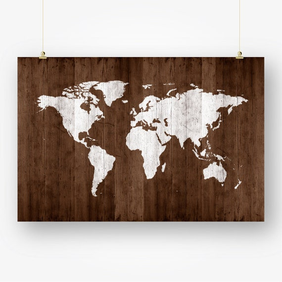 Large World Map Poster Wood Download Map Of The World Map - World map poster large download