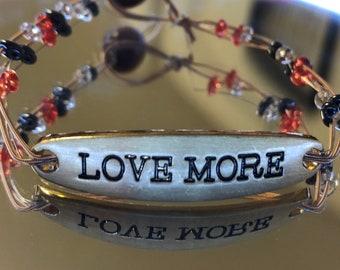 Love More Guitar String Bracelet