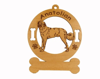 1283 Anatolian Dog Personalized Ornament