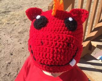 Spiky Dragon Hat Beanie or Earflap Hat ALL sizes ANY colors Newborn to Adult